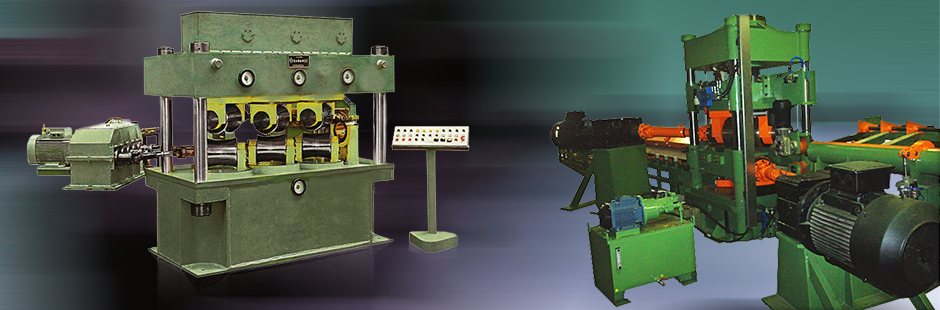 Straigtening machines for tubes and rods